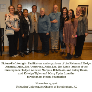 Representatives from the Birmingham Pledge and Richmond Pledge meet