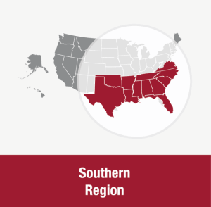 UUA Southern Region map